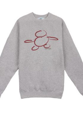 Sweat-shirt sérigraphié à la main 100% coton Youman Skateboards, skatewear parisien et minimaliste.