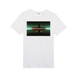 Tee-shirt sérigraphié à la main Youman Skateboards en coton 100% bio. Youman on the Block.skatewear minimaliste et parisien